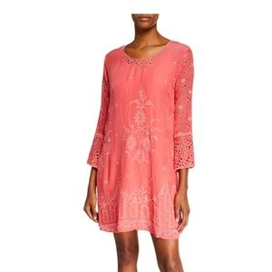 Nwt Johnny Was embroidered dress S